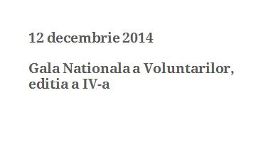 Gala Nationala a Voluntarilor 2014